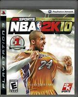 NBA 2K10 Sony PlayStation 3 Ps3 CIB Cd Rom Has NO Scratches