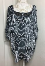 AVENUE Womens Boho Tunic Shirt Blouse Sequins Plus Size 18/20 NWT