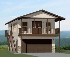 20x32 House -- 1 Bedroom -- 4:12 Roof Pitch -- PDF Floor Plan -- Model 7E