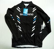 New Men`s Shimano Thermal Print Long Sleeve Jersey
