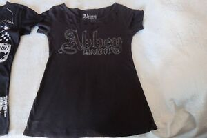 Rare Abbey Dawn by Avril Lavigne Black with print T-Shirt Size S