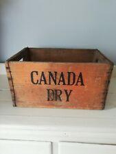 Canada Dry Soda Box Crate Rustic Storage Solid Wood Antique Vintage