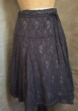 KIMCHI & BLUE Gray SPARKLE LACE Gored SKIRT Urban Outfitters M Medium Holiday