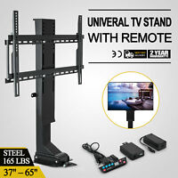 """Motorized TV Lift Bracket Mechanism for 37-65"""" TVs lift Stand Mount with Remote"""