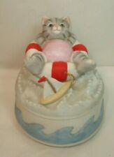 Vintage 1987 Schmid Music Box - Kitty Cucumber - In the Good Olde Summer Time