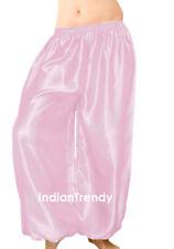 Medium Purple - Satin Harem Yoga Pant Belly Dance Costume Pantalons Trouser Boho