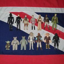 Vintage Kenner Guerra De Las Galaxias Figuras De Acción X 14 Trabajo Lote paquete Yoda Darth Vader