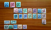 1919 Czechoslovakia Post Stamps Overprints on Austria MH collection 25 stamps