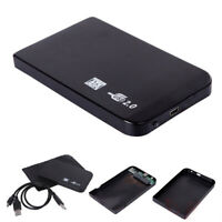 "Black USB 2.0 SATA 2.5"" HDD Hard Disk Drive 500GB External Enclosure HD Case Box"