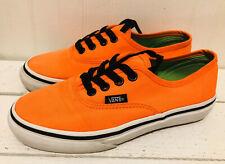 Vans Skateboard Orange Black Shoes Boys Girls US 1