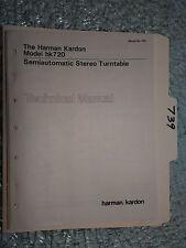 Harman Kardon hk720 hk 720 service manual original repair book stereo turntable