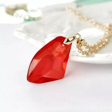 Harry Potter And Philosophers Sorcerers Magic Stone Necklace Red Pendant