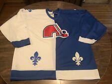 True Vintage Quebec Nordiques NHL Hockey 2 Color Blue & White CCM Jersey