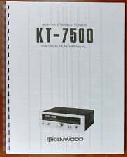 Kenwood Kt-7500 Tuner Owners Manual