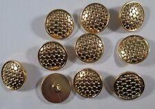 Knopf Knöpfe 10  stück  gold  knöpfe 20,5  mm groß #778#