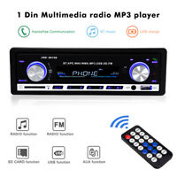 1 Din Bluetooth Car Stereo Audio Radio MP3 Player SD USB FM Radio Receiver AUX