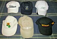 Hat Cap Lot Group 6 ! Golf Hat'S! Golfer + Pro Golf Course Tournament + Variety!
