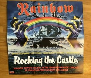 """Rainbow 1980 Castle Donington 21"""" x 22"""" Replica Poster included in 2015 Box Set"""