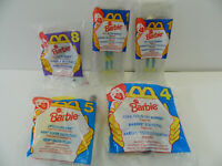Lot of 5 McDonalds Happy Meal Toys - Barbie 1994