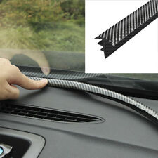 1Pcs 1.6M Carbon Fiber Car Dashboard Gap Filling Sealing Strip Rubber Universal