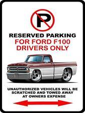 1971 Ford F100 F-100 Pickup Truck Cartoon No Parking Sign NEW