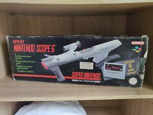 Nintendo SNES Super Scope + Scope 6 Cartridge Boxed