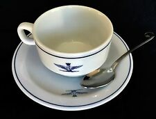 Italian Air Force Insignia Surplus Cup & Saucer Set w/Spoon RICHARD GINORI NOS