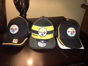3 Mens Reebok Pittsburgh Steelers Hats