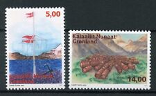 Greenland 2017 MNH Abandoned Stations 2v Set Boats Ships Flags Mountains Stamps