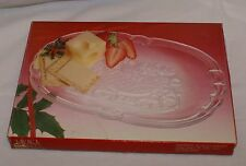 Mikasa Christmas Serving Plate Santa Sleigh Centerpiece Frosted Oblong in Box