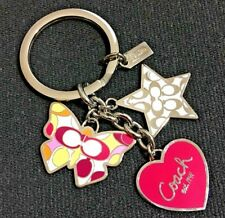 NEW Coach Heart Star Butterfly Mix Charm Keyfob Keychain