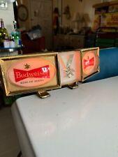 Rare Vintage Budweiser Beer Clamp on Bar Mancave Light Up Sign Bud Advertising