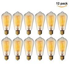 12 X Vintage Edison E26 ES ST64 Bulbs Dimmable Incandescent Lights Lamp 60W 110V