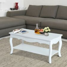 Contemporary Design White Coffee Table Lightweight Multi Functional Easy Clean