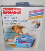 Fisher-Price Portable Bath & Changing Caddy Blue 52004 Baby New