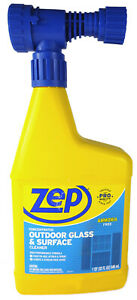 Zep Pro Outdoor Glass And Surface Cleaner, Concentrated (32 fl oz Hose Sprayer)