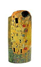 Klimt The Kiss Lovers Embrace Yellow Gold Ceramic Flower Vase by Klimt 9H