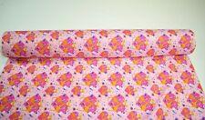 """Quilt Fabric Pink Giraffe Heart Print Craft Apparel Sewing 45"""" Wide #105"""