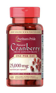 Triple Strength Cranberry Fruit Concentrate 12,600 mg 60 Softgels - Puritans