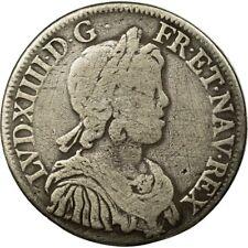 [#512024] Monnaie, France, Louis XIV, 1/2 Écu à la mèche courte, 1643, Paris