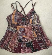 American Eagle Outfitters Boho Tank Top Sz XS Strappy Back Hippie Colorful