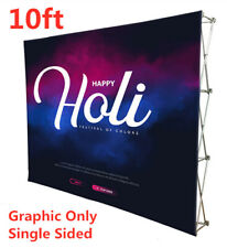 10ft Tension Fabric Pop Up Display Backdrop Trade Show Booth Single Graphic Only