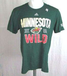 Minnesota Wild NHL adidas Men's Green 100th NHL Anniversary Go To Tee *FLAWED*
