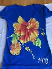 Hollister HCO Women's Blue Size Small T-Shirt Top Shirt Graphic Tee Cotton