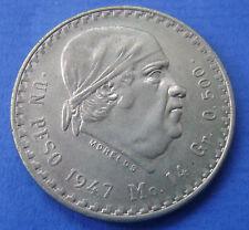 1947 Mexico - 1947 Un 1 Peso KM# 456 - Nice!
