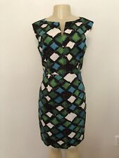 An Original MILLY of New York Abstract Mod Shift Sheath Dress Mad Men Pin Up 10