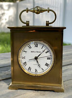 carriage clock Swiss Made By Matthew Norman Heavy Brass great GREAT BUY