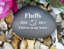 Pet Memorial - Pebble (Stone Effect) - Personalised - Weatherproof - Guinea Pig