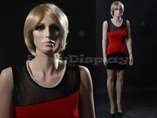 Fiberglass Female Manequin Mannequin Display Dress Form #MZ-ZARA4+FREE WIG