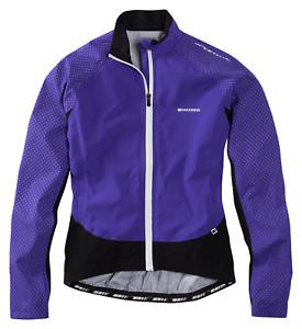 Madison Sportive Hi-Viz Womans Cycle Waterproof Jacket Purple Reign reflective